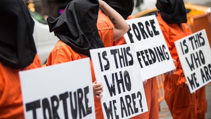 Anti-torture activists protest against Guantanamo Bay [Getty Images]