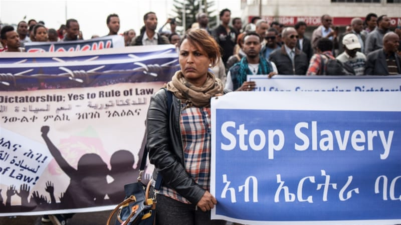 Hundreds of Eritreans from all over Europe, Africa, the US, and Canada took part in the rally [Selam Kidane]
