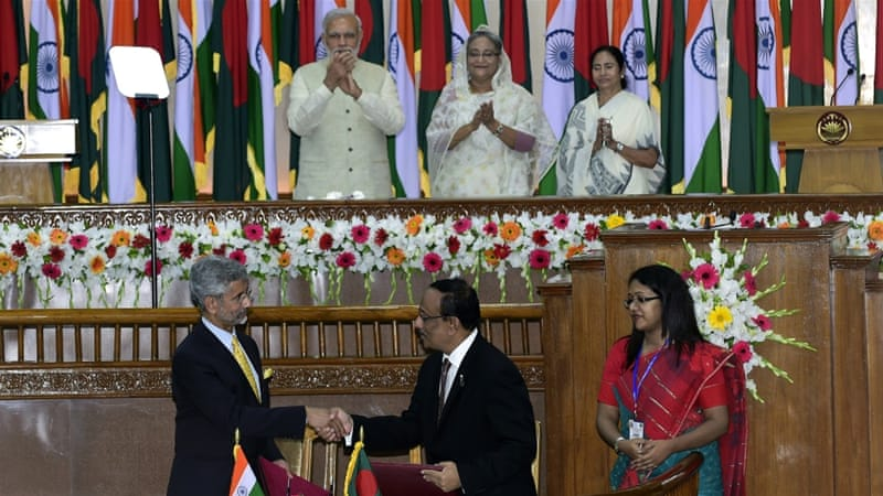 Under Saturday's deal signed in Dhaka, 111 enclaves will be transferred to Bangladesh and 51 to India [AFP]