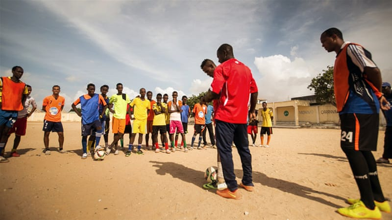 Football is the most popular sport in the horn of Africa country [Ahmed Farrah/Al Jazeera]