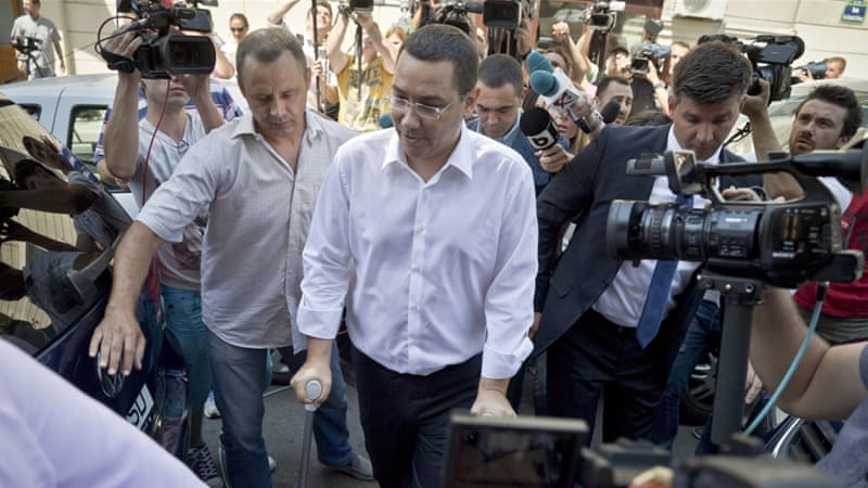 Prosecutors said Ponta has been indicted on charges such as tax evasion, money laundering and making false statements [AP]