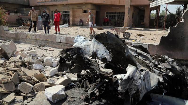 The bombings targeted Shia neighbourhoods in the Iraqi capital, including in Shaab, which was targeted last month [Reuters]