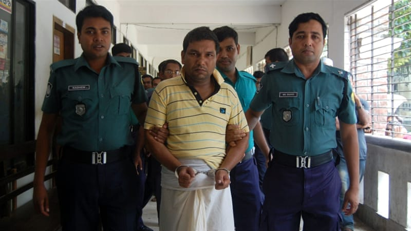Bangladeshi police have arrested five people over the July 8 killing of Samiul Alam Rajon [AFP]