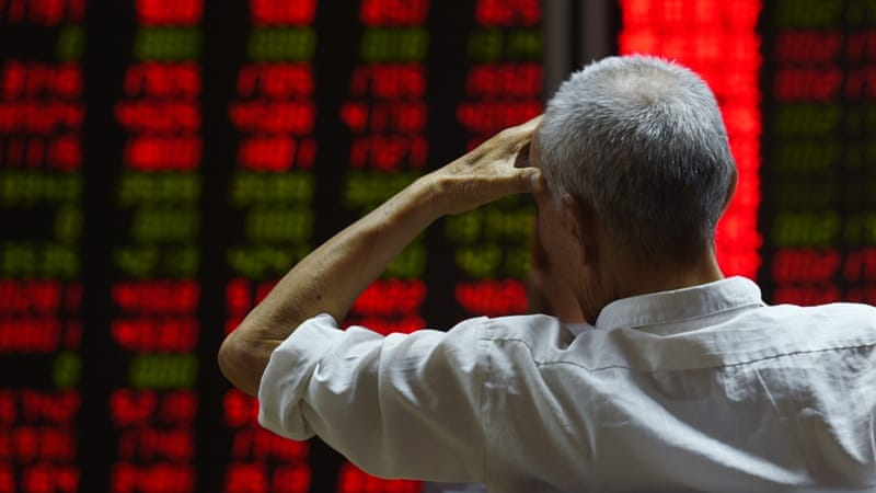 China's stock markets have lost $3.4 trillion, an amount that is larger than the economy of most nations across the world [AFP]