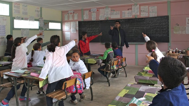 There is a large gulf between rural and urban areas in Morocco when it comes to enrolment in middle school education [Julia Barstow/Al Jazeera]
