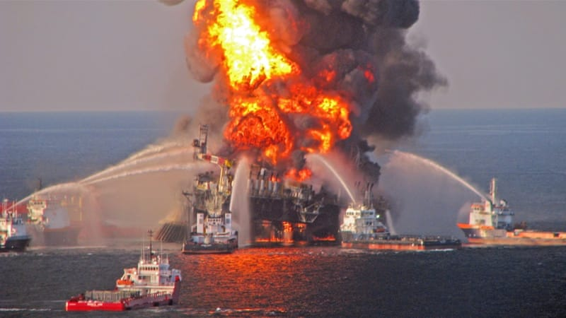 Eleven people died and millions of barrels of oil were spilled into the Gulf in 2010 [EPA]