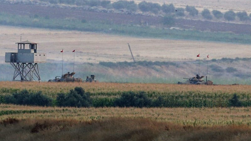 Turkish media reported that ISIL fighters shot at the Turkish army in Kilis, a town on the border with Syria [AP]