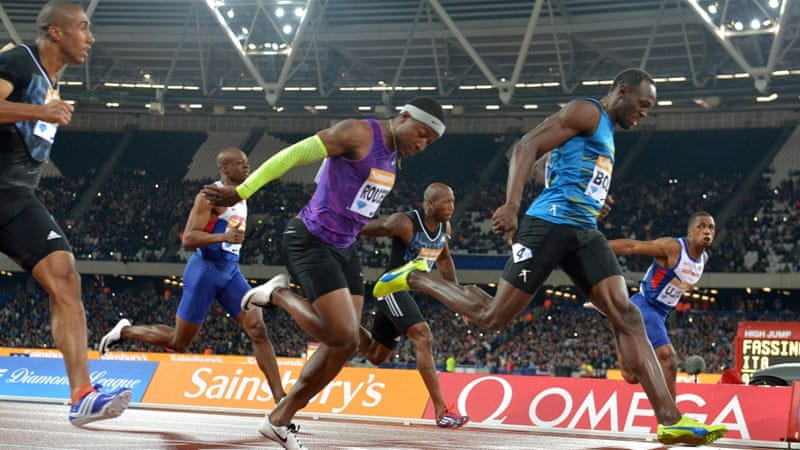 Bolt was running his first 100m in over three months [Kirby Lee-USA TODAY Sports]