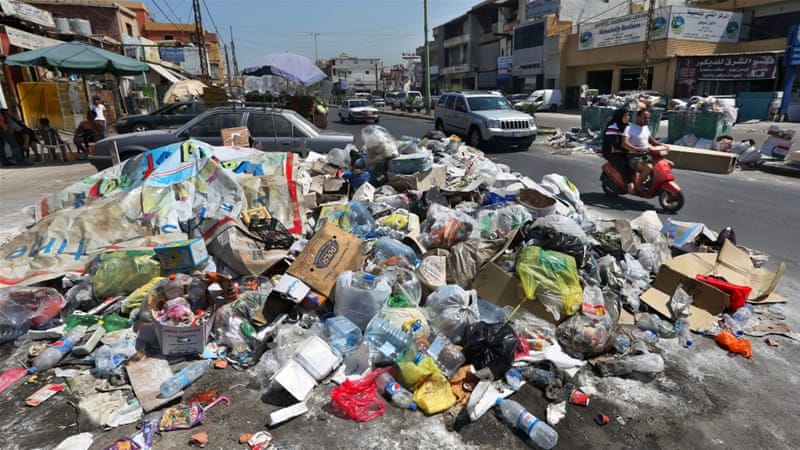 Lebanese protest against waste-disposal crisis