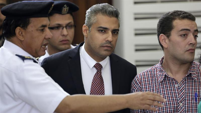 Mohamed Fahmy, a Canadian citizen of Egyptian origin, along with a group of journalists, was detained in Egypt in 2013 on charges of stoking unrest and publishing false news [File: Amr Nabil/AP Photo]