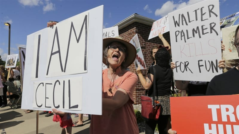 Protests were held at Palmer's Minnesota clinic on Wednesday [AP]