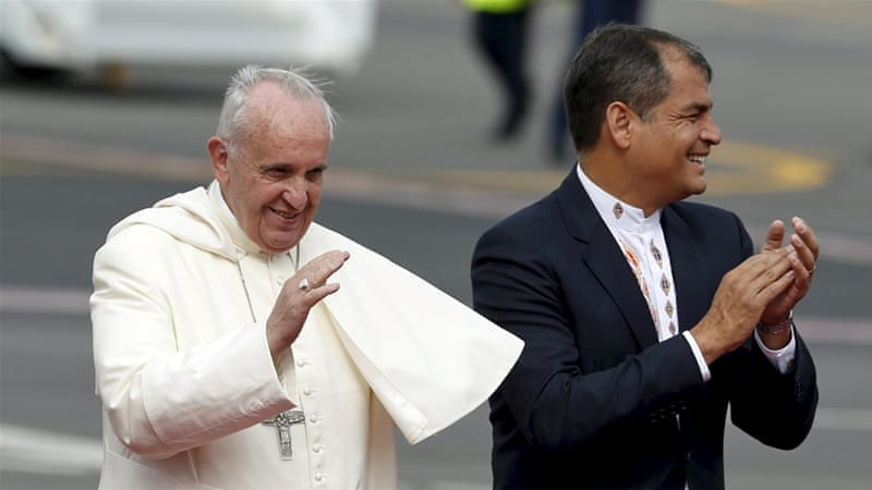 Francis chose to visit Ecuador, Bolivia and Paraguay because they are among the poorest nations in South America [Reuters]