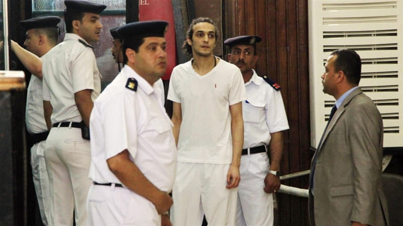 Shawkan was arrested in August 2013 while covering the security crackdown on supporters of Mohamed Morsi in Cairo [AP]
