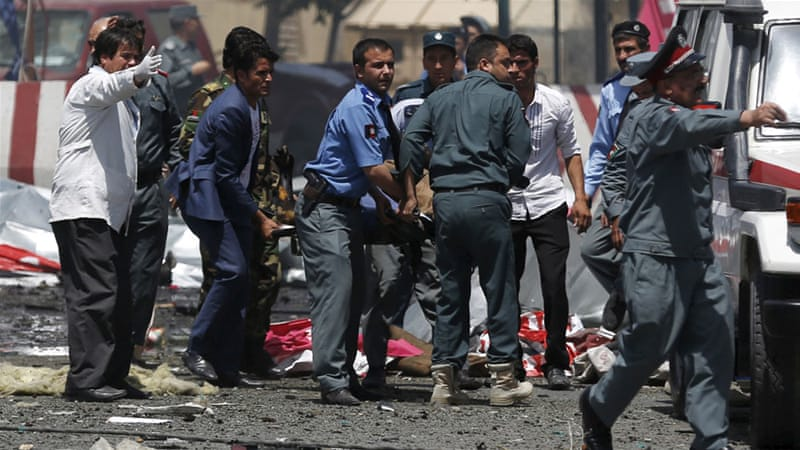 Kabul was already on high alert before the blast after last week's attacks which killed at least 50 civilians [Reuters]