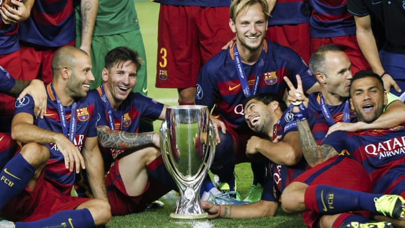 Barcelona have now won four trophies this year [Reuters]