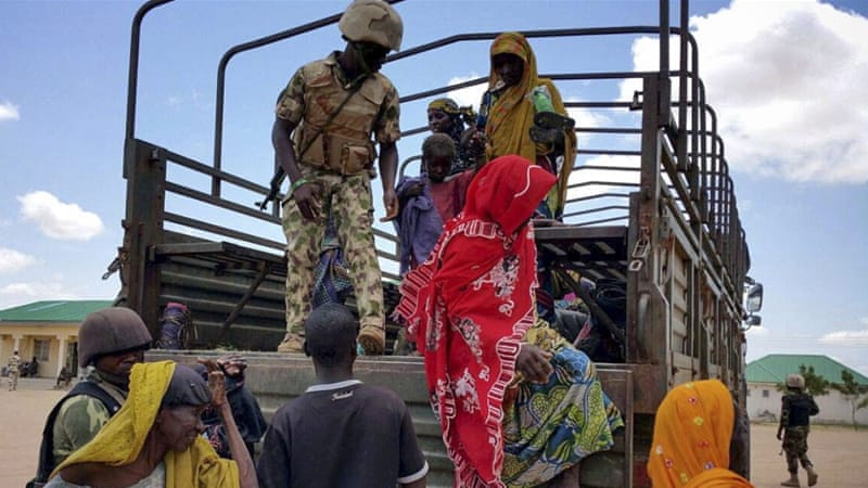 Hundreds have been displaced by attacks by suspected members of Boko Haram in the last few weeks [EPA]