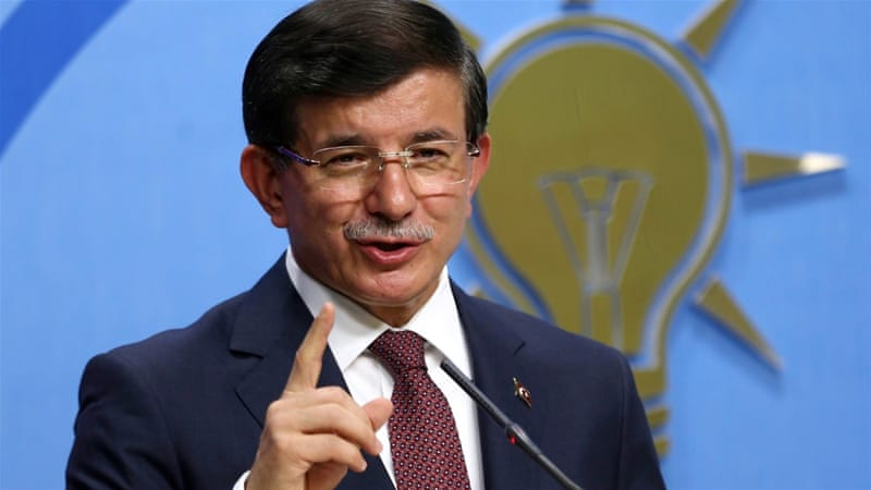 Erdogan said Davutoglu (pictured) 'would not commit suicide' if no coalition could be formed [Reuters]