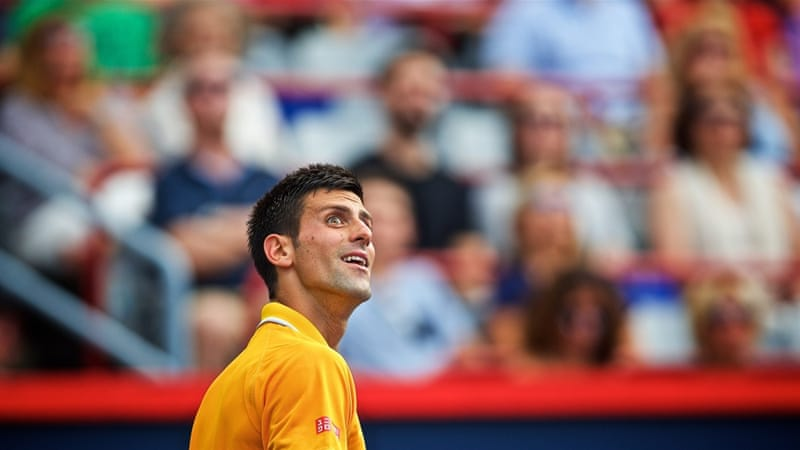 Djokovic complained of someone smoking weed in the stands [EPA]