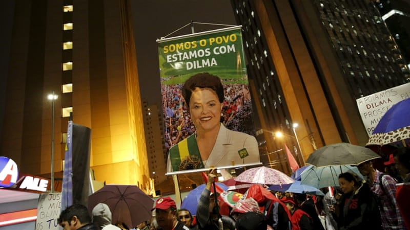 Rousseff herself has not been accused but she chaired the board at Petrobras between 2003-2010 [Reuters]