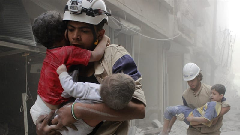 Image result for white helmets aleppo