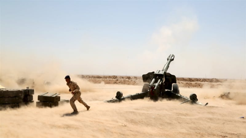 Government forces and Shia fighters have been trying to dislodge ISIL from Anbar province [Reuters]