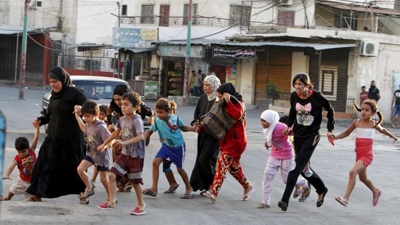 Some residents have fled Ain al-Hilweh due to clashes in the area during the past couple of days [Reuters]