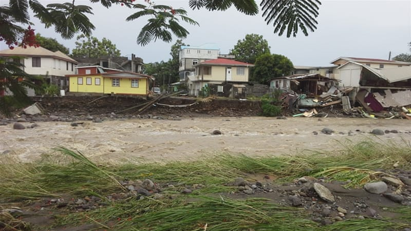 At least four people have been killed after Erika pummelled the Caribbean island of Dominica [AP]
