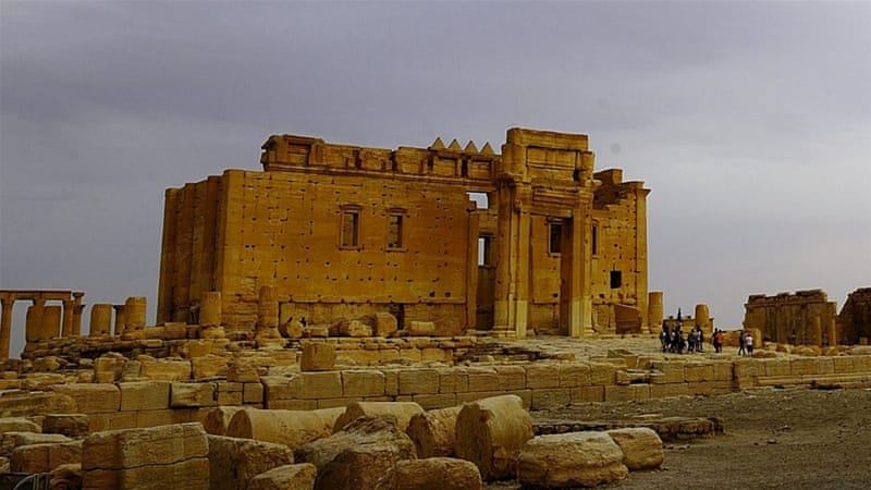 ISIL destroyed the smaller Baal Shamin temple at Palmyra last week, confirming the worst fears about their intentions for the site [Reuters]