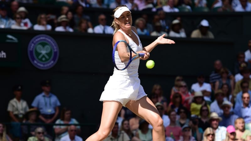 Sharapova's last match was the semi-final at Wimbledon this year [Getty Images]