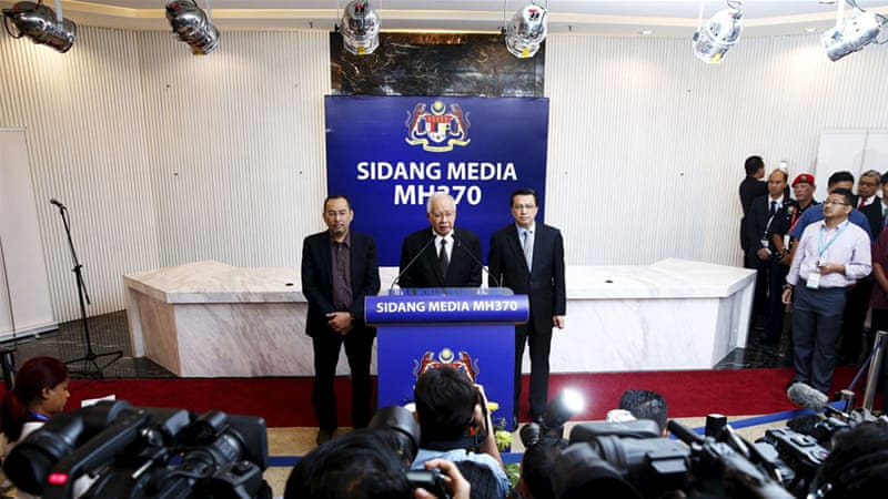 Najib's announcement has ended an agonising wait for families of the 239 passengers and crew of MH370 [Reuters]