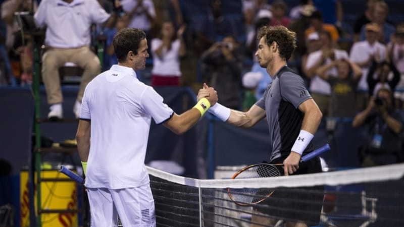 Murray was the top-seed at the Citi Open [EPA]