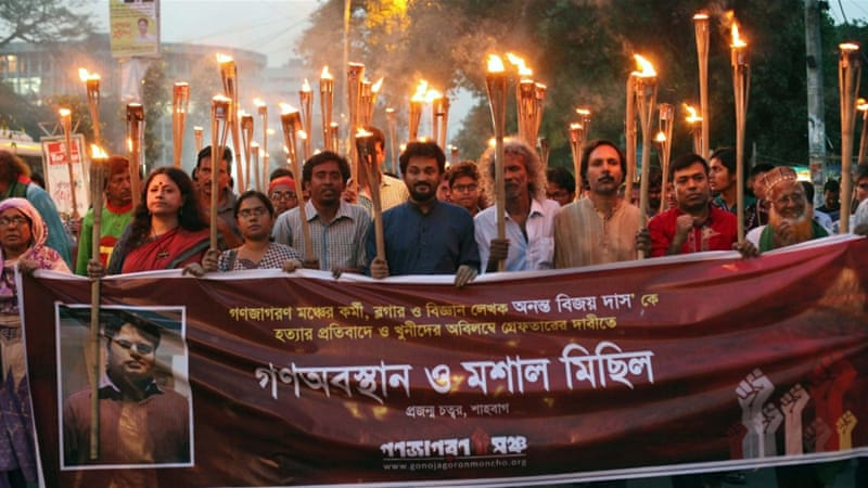 Blogger Ananta Bijoy Das was killed in May in 2015, a year which has seen at least four atheist bloggers murdered in Bangladesh [EPA]