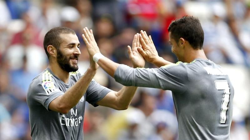 Ronaldo and Benzema scored all six goals for Real Madrid [EPA]