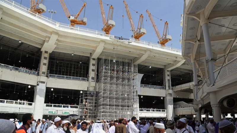 The contractor has been directed to ensure the safety of all other cranes at the Grand Mosque site [AP]