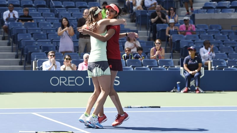 Hingis and Mirza started playing together around six months ago [EPA]