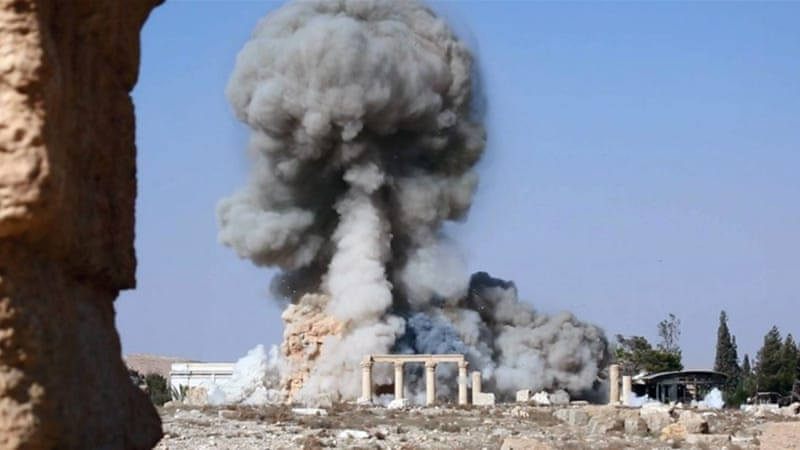 ISIL has demolished numerous ancient sites in Palmyra, including the 2,000-year-old temple of Baalshamin [AP]