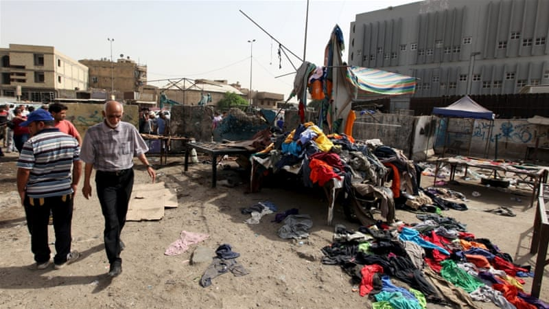 The bombs went off in mainly Shia neighbourhoods in central Baghdad, security and medical sources said [Ahmed Saad/Reuters]