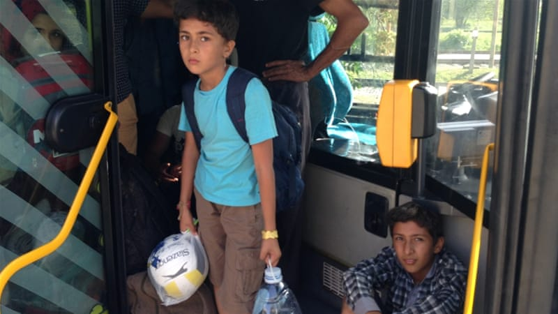Hungary seizes refugee train arriving from Croatia
