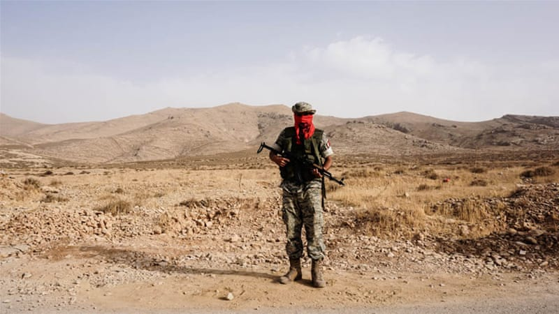 The LCP group boasts dozens of volunteers who patrol the hilly terrain on the outskirts of Ras Baalbek in shifts [Patrick Strickland/Al Jazeera]