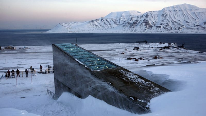 The Svalbard Global Seed Vault was built to protect millions of food crops from climate change, wars and natural disasters [AP]
