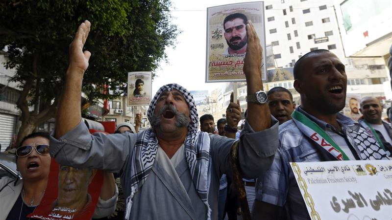 Palestinian prisoners have used hunger strikes to protest Israeli detention practices [EPA]