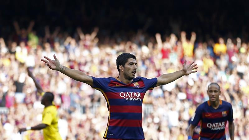 Suarez's brace helped Barcelona recover from a mid-week thrashing [AP]