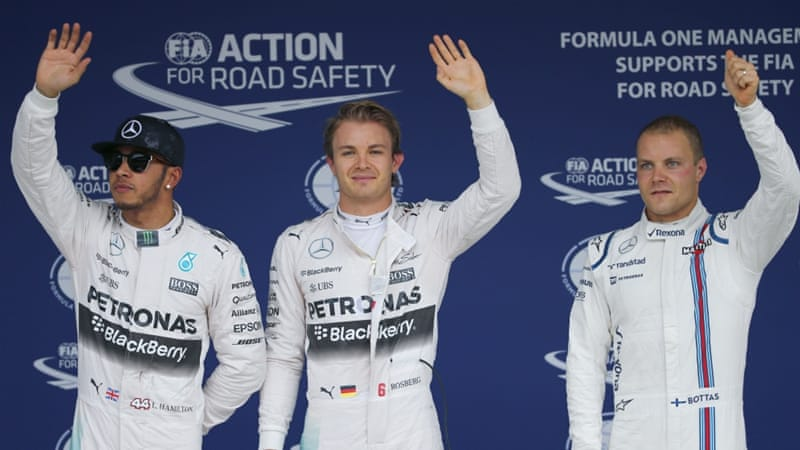 Rosberg has taken his first pole position since May [AP]