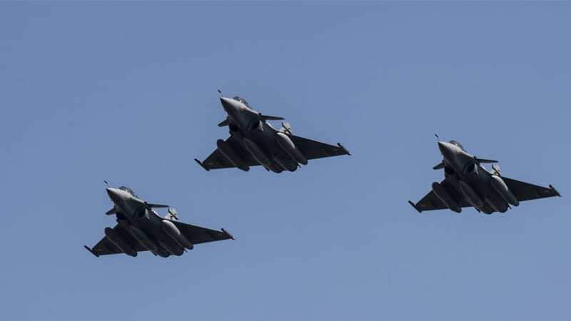 France has been carrying out air strikes against ISIL in Iraq since last year [Khaled Desouki/AFP]