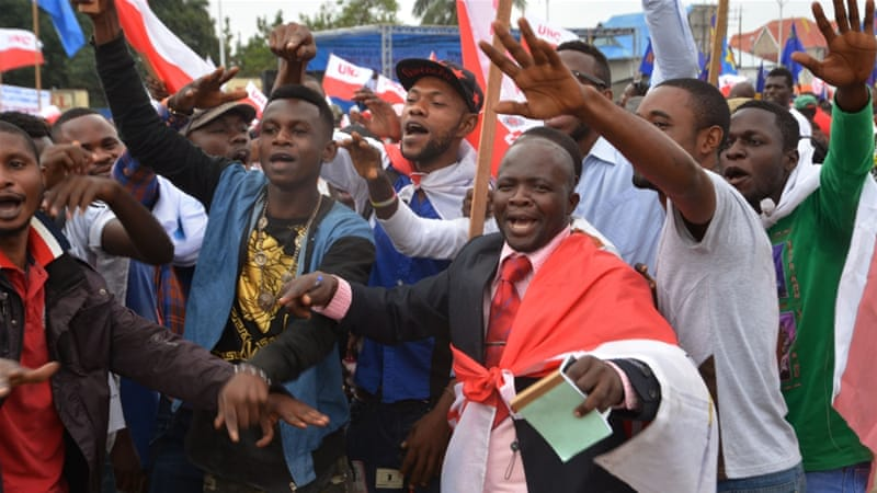 Congolese rally against 'constitutional coup'