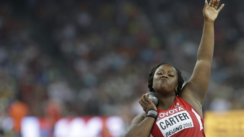 Carter is a three-time US champion and two-time Olympian [AP]