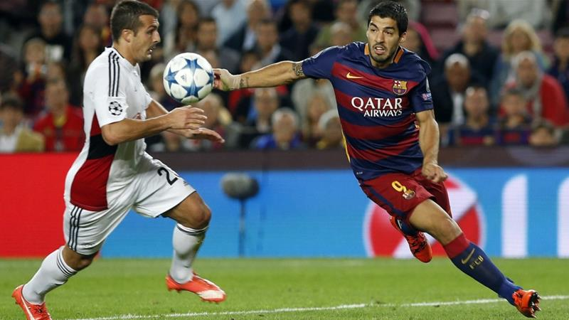 Suarez's goal two minutes after the equaliser helped Barcelona take three points [EPA]