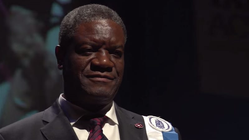 Mukwege was awarded the Sakharov prize for helping thousands of gang rape victims [Screengrab from 'The Man Who Mends Women']