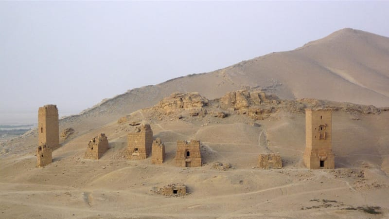 The Palmyra tower tombs that were destroyed dated from the first century AD [Reuters]