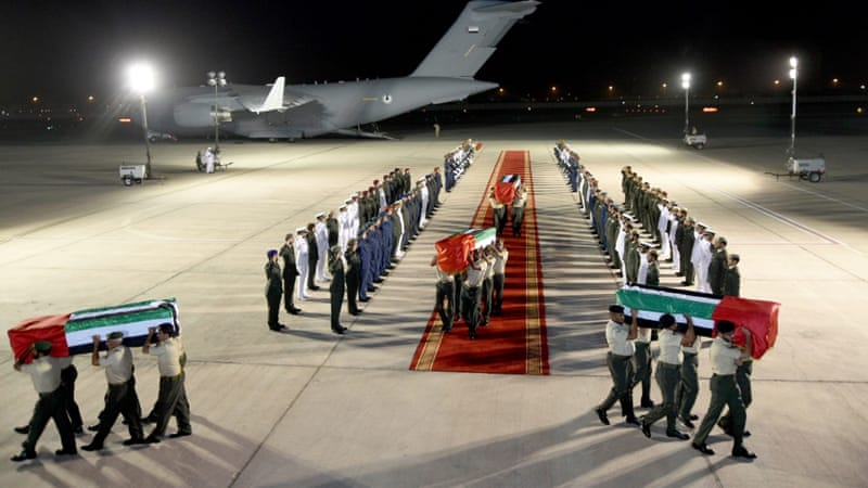 The UAE has announced three days of national mourning for the 45 soldiers who died in Yemen on Friday [EPA]